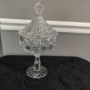 Lead Crystal 2 Piece Candy Dish
